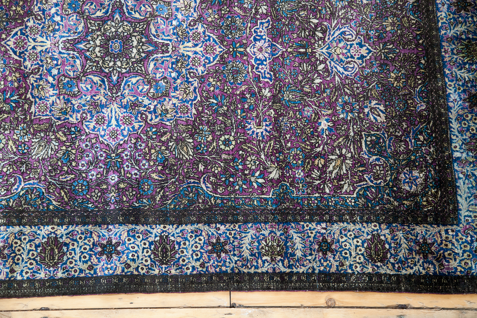 Antique Silk Kashan Rug