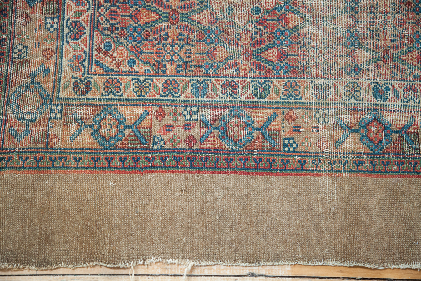 Antique Camel Hair Serab Rug Runner