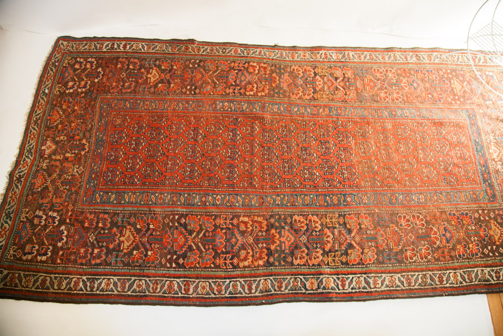 Antique extra wide Kurdish Rug Runner