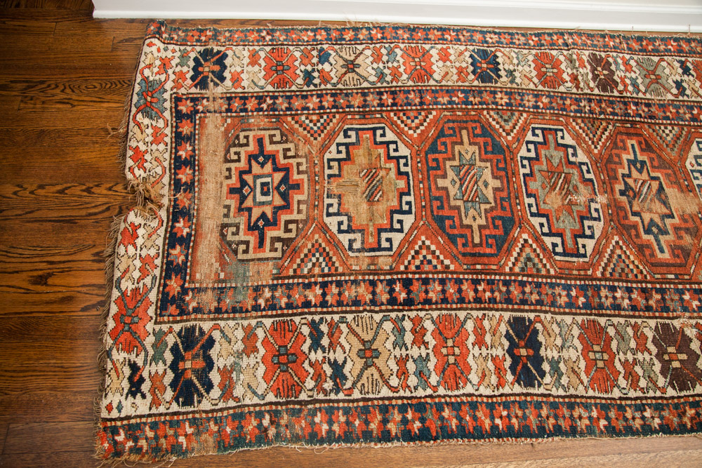 Antique Moghan Kazak Carpet