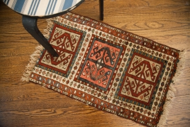 Antique Caucasian Rug Mat