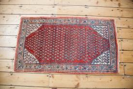 Vintage orange Persian Mir Sarouk Rug