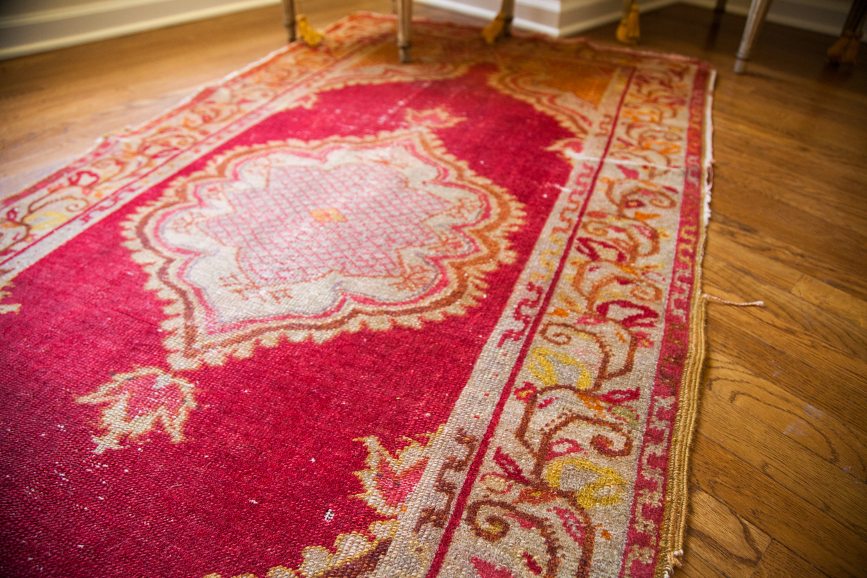 Vintage Turkish Red Rug