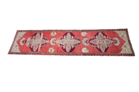 Red Oushak Runner