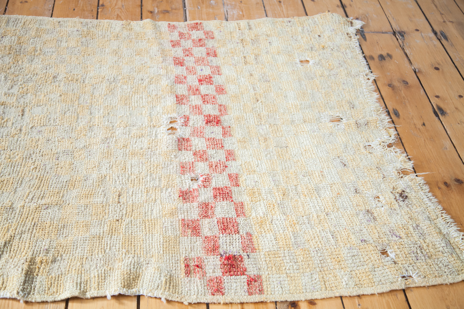 Yellow Checkered Rug