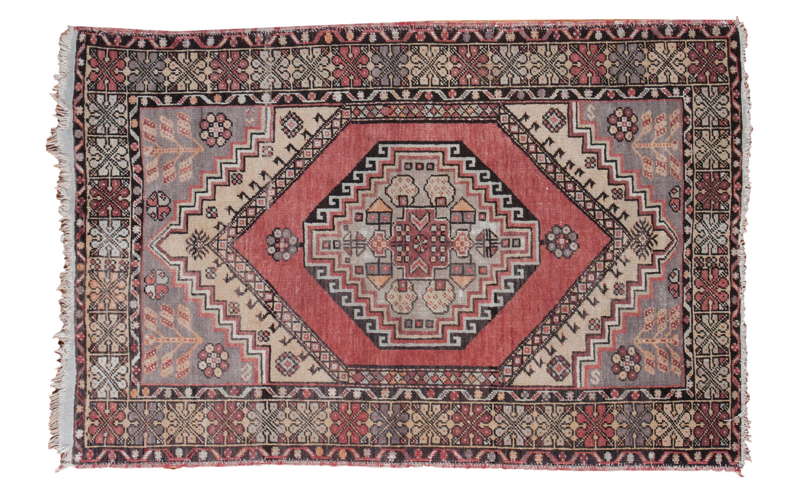 Red Vintage Turkish Rug