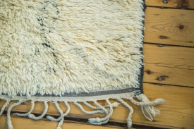Large Ivory Moroccan Rug