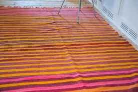 Pink Stripe Kilim