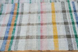 Checkered Plaid Rag Rug