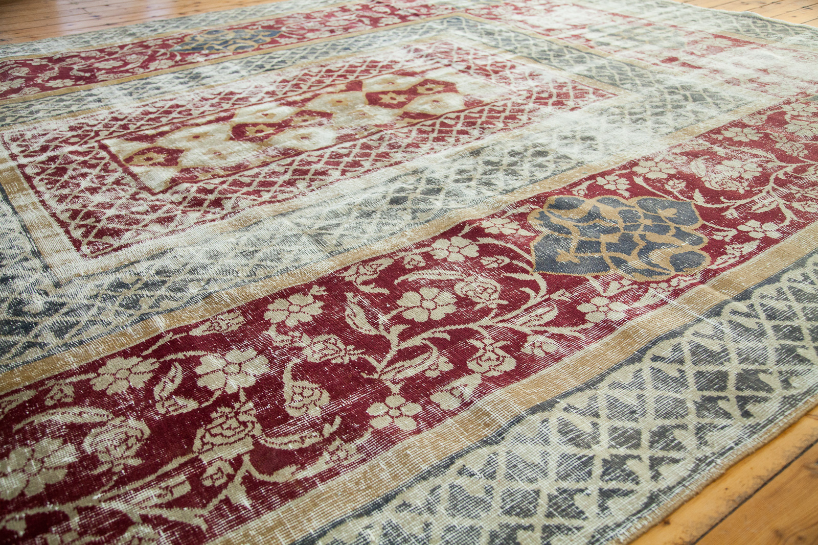 Worn Vintage Turkish Rug