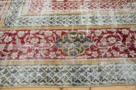 Worn Vintage Turkish Rug