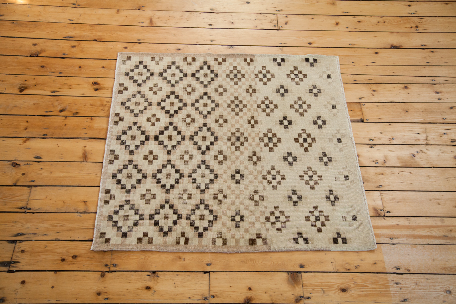 Contemporary Vintage Square Rug