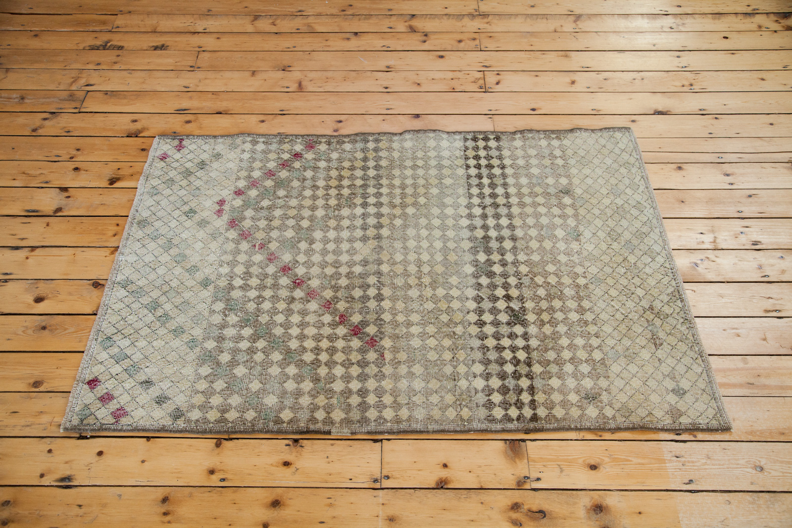 Vintage Checkered Rug