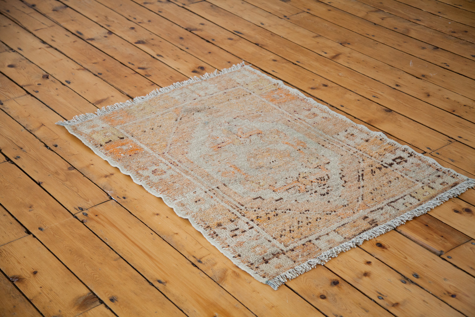 Vintage Orange Turkish Rug