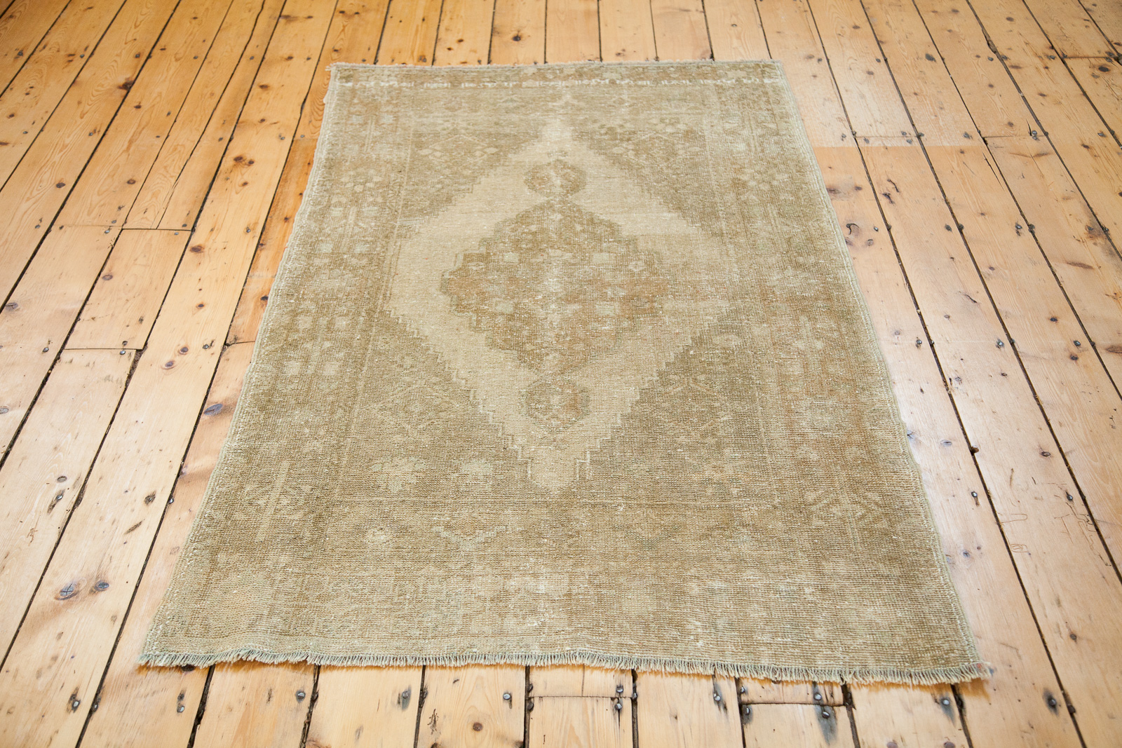 Faded Vintage Turkish Rug