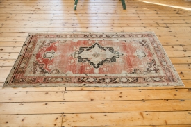 Vintage Faded Red Rug