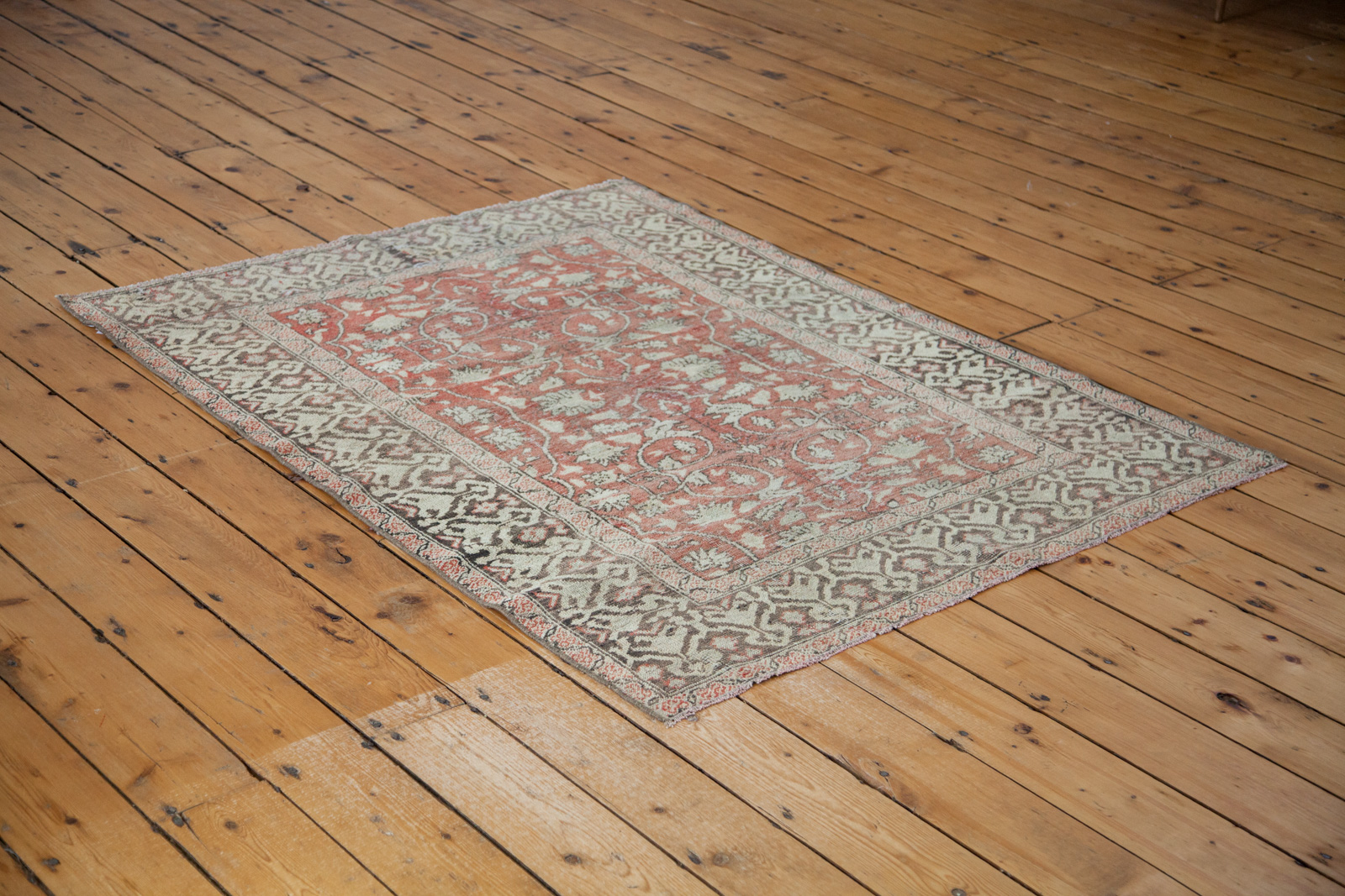 Floral Red Turkish Rug