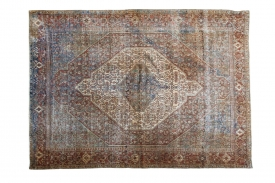 Distressed Antique Rug
