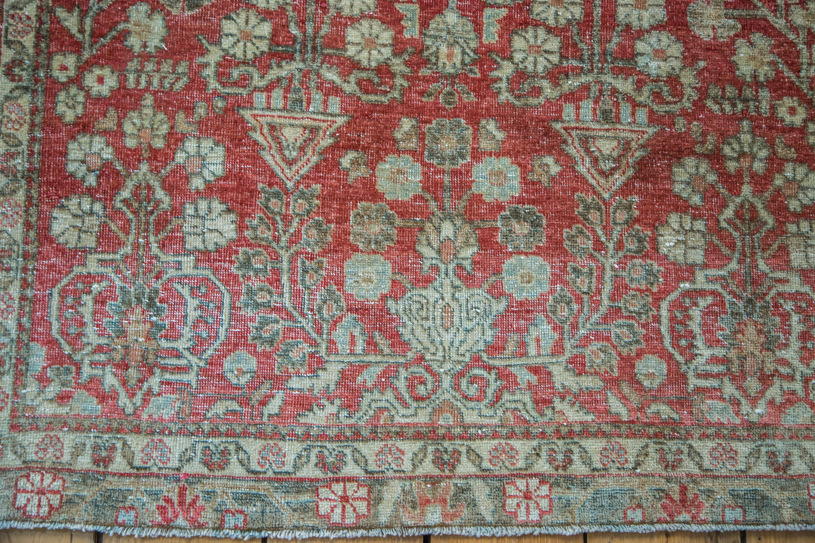 Distressed Red Tabriz