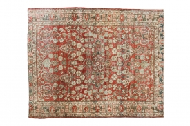 Distressed Red Tabriz