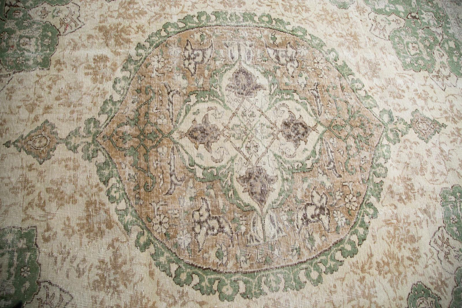 Distressed Ornate Oushak