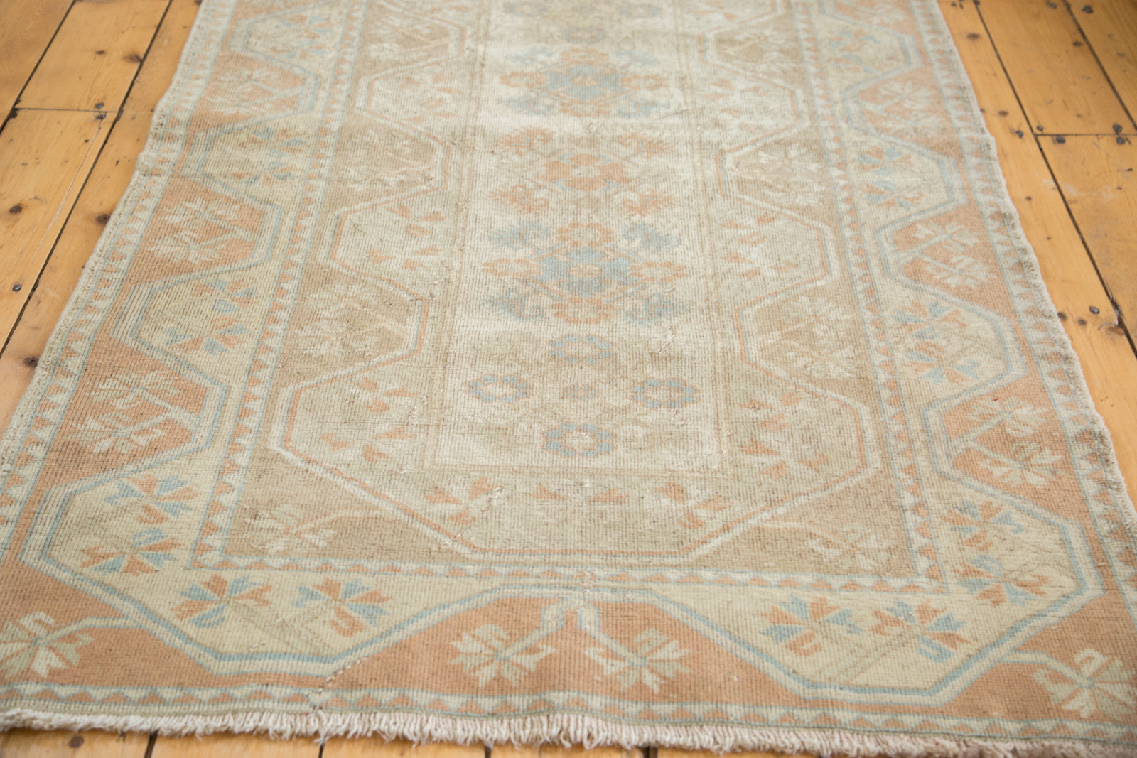 Distressed Oushak Rug