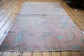 Distressed Pink Area Rug