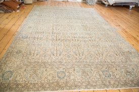 Distressed Oushak Carpet