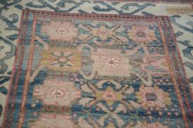 Blue Ivory Indian Rug