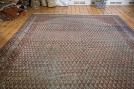 8x11.5 Distressed Farahan Sarouk Carpet