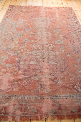 Distressed Red Area Rug