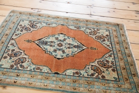 Orange Blue Tabriz Rug