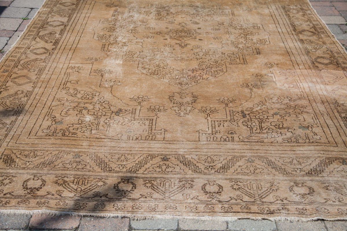Blanched Turkish Rug