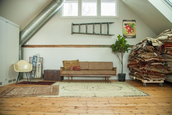 Our Sunlit Rug Studio in Katonah NY